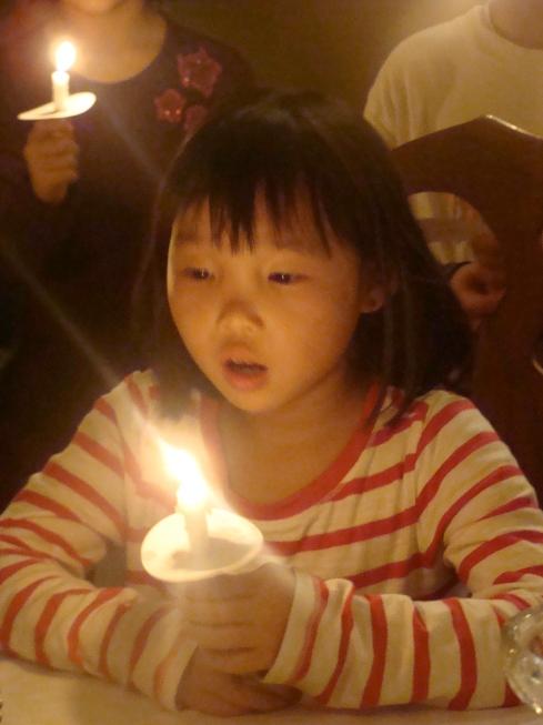 Zinnia during Nana and Grandpa's Happy Birthday Jesus ceremony.  Thank you God for Zinnia Joy.