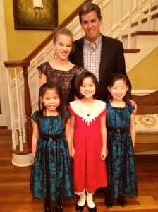 Chris is so sweet.  He took the girls to a daddy daughter dance.  Isn't that so sweet?  they had a great time!!!