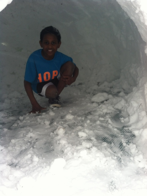 rascal luke in the igloo