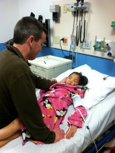 very special evening for lainee.  We had our date night with her at the ER :)