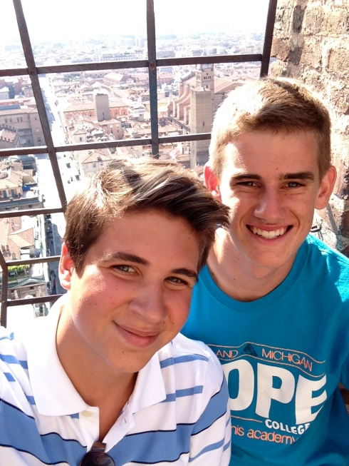 ollie and christopher in Italy!