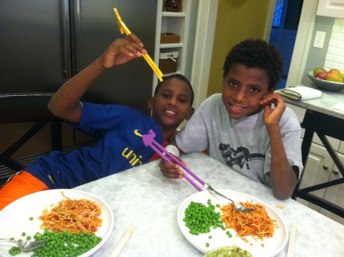 luke and titus Wilson~chop sticks!!