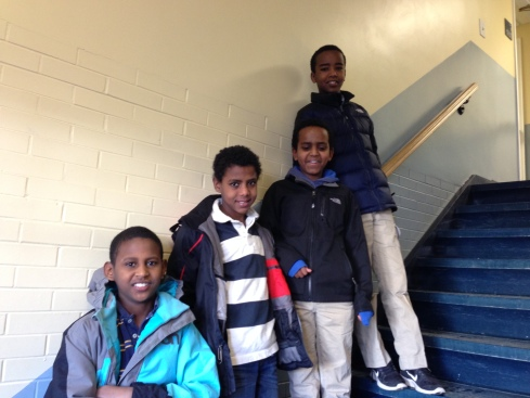 the 4 boys from Mekele a few sundays ago at church. Luke, Titus, Sam, Joseph.  It is still so amazing to us that these friends from ethiopia were all able to be adopted to friends in our area.